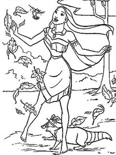 pocahontas strong winds coloring pages for kids printable pocahontas coloring pages for kids