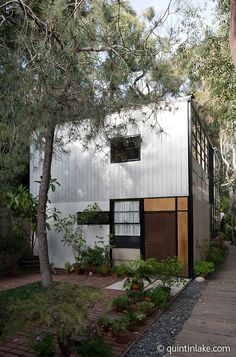 Their home: The Eames House or Case Study House No. 8, by Charles and Ray Eames Los Angeles, California