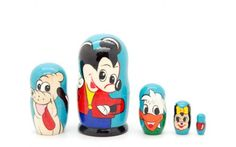 Matryoshka nesting doll Mickey mouse Free Worldwide shipping | ArtMatryoshka - Toys & Hobbies on ArtFire