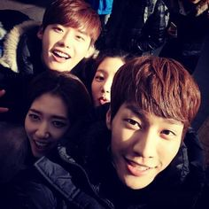 Kim Young Kwang with the rest of the Pinocchio crew.