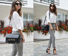 H&Mb Blouse, Proenza Schouler Bag, Zara Pants