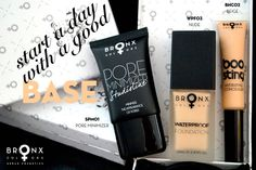 The 3 makeup essentials you need and add to your collection this summer. A great foundation is a must for flawless-looking skin. Start a day with a good base. Waterproof Foundation, Waterproof Makeup, Bronx Colors, Minimize Pores, Makeup Items, Makeup Essentials, 3 Things, Product Launch, Base