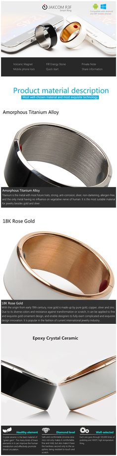 Jakcom R3f NFC Smart Wearable Ring For NFC Mobile Phones at Banggood