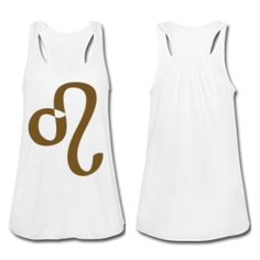 Gold Glitter Leo tank by SHOPSSS - http://www.simplysunsigns.com/p/shop-simply-sun-signs.html