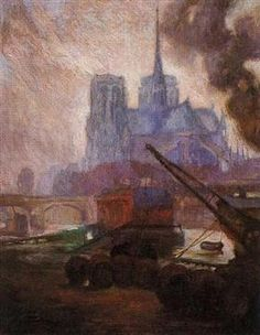 Diego Rivera - Notre Dame de Paris in the Rain, 1909 Diego Rivera Art, Diego Rivera Frida Kahlo, Frida And Diego, Oil Canvas, Mexican Artists, Oil Painting Reproductions, Mural Painting, Oil Paintings, Illustrations