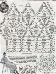 Un vestido de ensueño / patrones crochet gratis | Crochet y Dos agujas