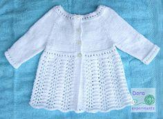 Dora experiments: 43. Biały sweterek 2 / White kardigan 2