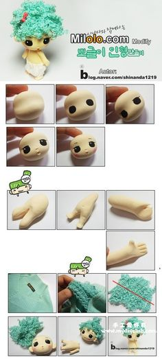 韩国的超轻粘土制作,Clay Crafts, Fimo, Sculpey , Modelling , Polymer Crafts with Sculpting clay , Free Kids Activities , Clay Projects, Templates and Ideas , Cute, Adorable , Kawaii, Critters and Creatures,