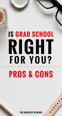 Is Graduate School Right for You? Pros and Cons of Graduate School Die Graduiertenschule hat ihre Vo College Club, Career College, College Life, College Survival Guide, Saving For College, Good Grades, Graduate School, How To Stay Motivated, Higher Education