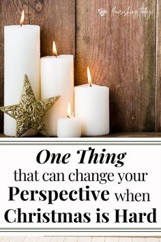 Christmas can be hard for some people. But even in the midst of difficult times, you can experience joy. Here's one thing that can change your perspective when Christmas is hard. #Christmas #perspective #difficultChristmas