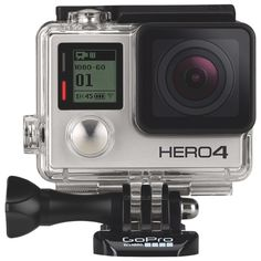New!                         GoPro HERO4 Waterproof HD Sports and Helmet Camera - Silver Edition
