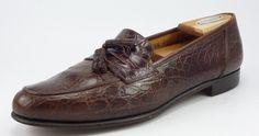 Ferragamo sz 9.5 B Gildo Crocodile Tassel Loafers 1458614 Mens Br#distinctivedeals #mensfashionown fits US 9.5 B