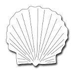 Frantic Stamper Precision Die - Scallop Shell