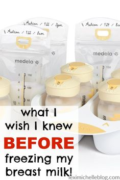 Breast milk feeding and storage set medela