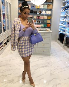 image of ? ( wearing two piece set from fashion nova - 15 Sexy Winter Date Night Outfits Dressy Outfits, Girl Outfits, Cute Outfits, Fashion Outfits, Womens Fashion, Fashion Trends, Purple Outfits, Fashion Inspiration, Fashion Killa