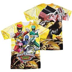 Power Rangers Charged For Battle All Over Print Front / Back T-Shirt