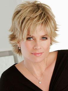Short Hair.  She was my fav soap star. Wish I looked like her