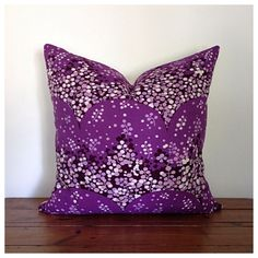 Vintage 60s Heals Fabric Cushion Cover   Confetti   Heather Brown £17.50