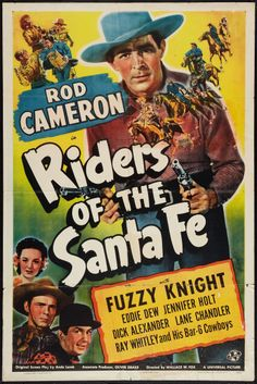 """Movie Posters:Western, Riders of the Santa Fe & Other Lot (Universal, 1944). OneSheets (2) (27"""" X 41""""). Western.. ... (Total: 2 Items) Image #1"""