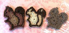 Susan's Hippie Crochet: My New Squirrel Applique Pattern, Darling Sigmund