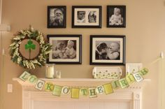 Luck o' the Irish: Adorable paper banner for your mantle.