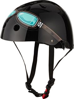 We Adore: The Black Goggle Helmet from Kiddimoto at Barneys New York Cool Bike Helmets, Bicycle Helmet, Riding Helmets, Outdoor Gifts For Kids, Safety Helmet, Ride On Toys, Bicycle Accessories, Luxury Gifts, Barneys New York