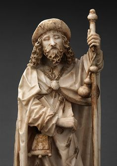 Saint James the Greater, Gil de Siloe (Spanish, active Alabaster with paint and gilding, Spanish St James The Greater, Medieval Paintings, St Jacques, Christian Images, Medieval Life, Religious Images, Catholic Art, Saint James, Pilgrimage