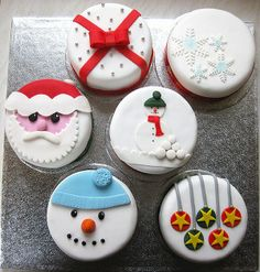Christmas Cakes I want to try these!!