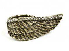 Pierścionek skrzydło - vintage Sprawdź więcej na www.carlena.pl