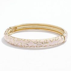LC Lauren Conrad Gold Tone Heart Bangle Bracelet - not a huge fan of hearts but this is cute!