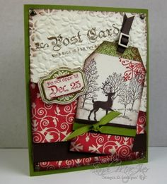 stampin up winter post stamp set and vintage tag card by sandi maciver