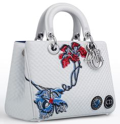 Small Diorissimo Flower Quilted Tote Bag