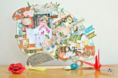 This is a beautiful altered Uchiwa by @Maiko Miwa! There are so many beautiful details on this project, please click to see more details of how she used Want2Scrap and Art Glitter. There are some stunning pictures. Go enjoy our blog hop! #graphic45 #want2scrap #artglitter