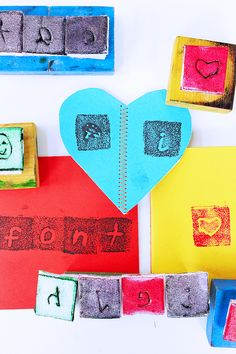 Design for Kids: Make a DIY stamp out of recycled materials | BABBLE DABBLE DO #kidscrafts #designforkids #recycledcrafts #graphicdesign