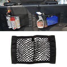유니버설 자동차 좌석 다시 저장 탄성 메쉬 그물 가방 가방 홀더 포켓 스티커 트렁크 주최자 강한 MagicTape 자동차 스타일링