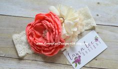 Coral Light Peach and Cream Singed Satin by LauraLeeDesigns108