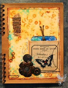papillon sur la branche: Journal on Monday week 74, In Finnabair mixed media journal. - france papillon