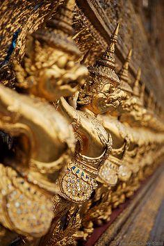 Garudas at Wat Phra Kaew Laos, Wat Pho, National Geographic, Bangkok, The Row, Turquoise Necklace, Culture, Oriental, Asian