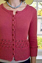 Ravelry: Millefiori Cardigan pattern by Andrea Pomerantz