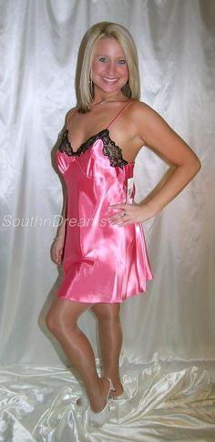 Untitled. Pink SatinSatin LingerieNight GownNightwearSatin ... dfb486493