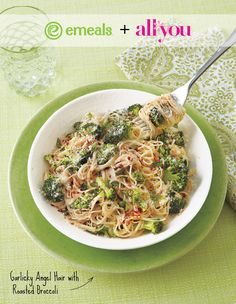 angel hair with roasted broccoli recipe from the all you meal plan
