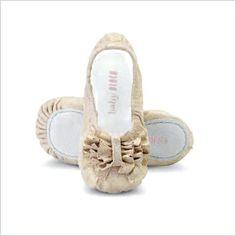 Bloch baby ruffle shoes in perla