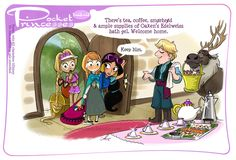 Pocket Princess Fan Art Just Proves How Friendly the Disney Princesses Are to Each Other