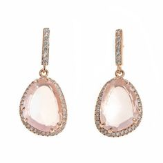 Especial bodas Pearl Earrings, Drop Earrings, Rose Quartz, Pink Purple, Jewerly, Amethyst, Gemstones, Detail, Beautiful
