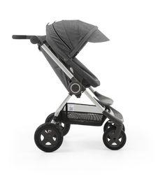 Stokke® Scoot™ Black Melange –Two-way facing seat w/ multiple recline options