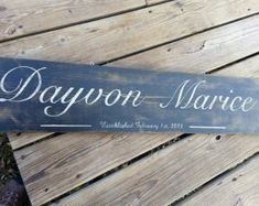 Check out Baby name Personalized Family Member Name Sign Established Sign Personalized Plaque on paolabrownshop