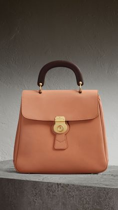 75b531752c5 The Large DK88 Top Handle Bag in Pale Clementine - Women