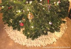 This year for Christmas I decided to tackle one momentous project I really have wanted to get done for years; to hand-make a tree skirt. A while ago I saw this beautiful flower tree skirt and nearly gagged when I saw the price tag of $350! Yikes!! With a little ingenuity and elbow grease I …