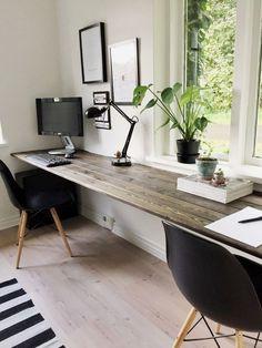 15 umwerfende DIY-Eckschreibtisch-Designs, die Sie inspirieren | Home-Office-Ideen für zwei | Heimbüro … Check more at…More #officedecor
