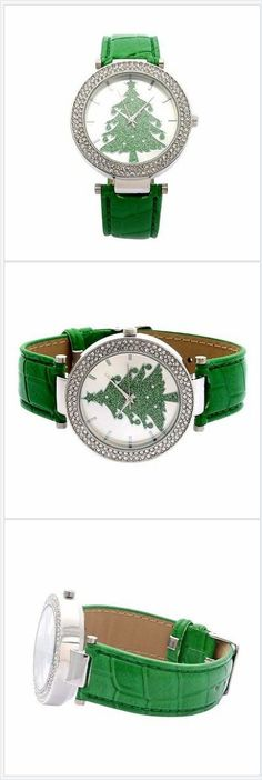 Christmas Tree Watch Austrian Crystal USA Seller Christmas In July #ebay http://stores.ebay.com/JEWELRY-AND-GIFTS-BY-ALICE-AND-ANN